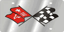 Corvette Cross Flags Logo (Retro)