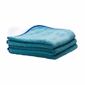 Deluxe Mega Towel Blue 16 x 16 inches - 3 Pack