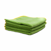 Deluxe Mega Towel Green, 16 x 16 inches - 3 Pack