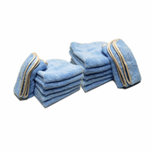 Earth Blue Elite Microfiber Towel with Absorbent Banding - 12 Pack