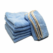 Earth Blue Elite Microfiber Towel with Absorbent Banding - 6 Pack