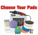 FLEX XC3401 VRG Dual Action 7.5 inch Curved Edge Pad Kit - Choose Your Pads! <font color=red><b>FREE BONUS</font></b>