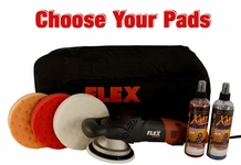 FLEX XC3401 VRG Orbital Polisher Intro Kit - Choose Your Pads! FREE FLEX BAG