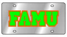 Florida A&M Rattlers NCAA Team License Plate