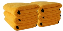 Gold Plush XL Microfiber Towel, 25 x 36, 6 Pack