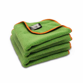Green SilverClean Interior Detailing Towel, 11 x 11 inches � 3 Pack