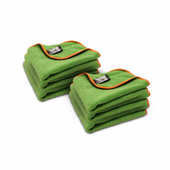 Green SilverClean Interior Detailing Towel, 11 x 11 inches � 6 Pack