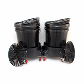 Grit Guard Dual Bucket Washing System - BLACK