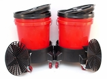 Grit Guard Dual Bucket Washing System - RED