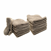 Gun Metal Elite Microfiber Towel with Absorbent Banding - 12 Pack