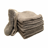 Gun Metal Elite Microfiber Towel with Absorbent Banding - 6 Pack