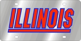 Illinois Fighting Illini NCAA Team License Plate