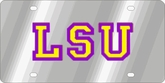 LSU Tigers NCAA Team License Plate