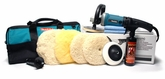 Makita 9237CX2 Rotary Polisher 7.5 Inch Wool Pad Kit
