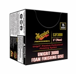 Meguiars Unigrit 3000 3 Inch Finishing Discs, 15 per box