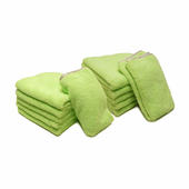 Neon Green Elite Microfiber Towel with Absorbent Banding - 12 Pack