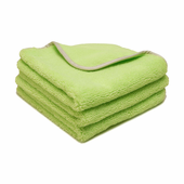 Neon Green Elite Microfiber Towel with Absorbent Banding - 3 Pack