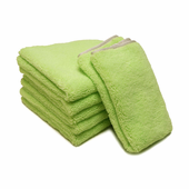 Neon Green Elite Microfiber Towel with Absorbent Banding - 6 Pack