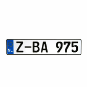Netherlands EEC License Plate
