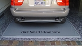 Park Smart Heavy Duty Clean Park Garage Mat 7.5' x 18'
