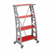 PitStop Furniture Chicane Bookcase-RED