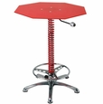 PitStop Furniture Crew Chief Bar Table-RED