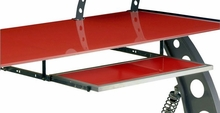 PitStop Furniture Racing Style Pullout Keyboard Tray-RED