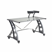 PitStop Grand Prix Racing Style Desk - CLEAR