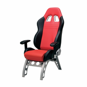 Pitstop GT Receiver Office Chair - RED