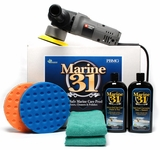 Porter Cable 7424xp Marine 31 Boat Polish & Wax Kit Free Bonus!