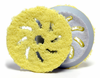 Rupes 100 mm (4 Inch) Yellow Microfiber Finishing Pad, 2 Pack
