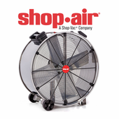 Shop Air Stainless Steel Wide Body Heavy Duty Drum Fans