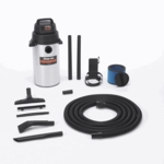 Shop-Vac Stainless Steel 8 Gallon Wall Mounted Garage Wet/Dry Vacuum