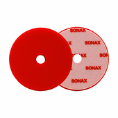 SONAX Red Dual Action Hard Cutting Pad - 143 mm