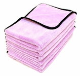 Super Plush Deluxe Microfiber Towel, 16 x 24 inches - 6 Pack