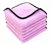 Super Plush Junior Microfiber Towel 16 x 16 inches - 6 Pack
