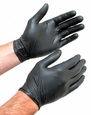 X Large Black Nitrile Gloves, Box of 100