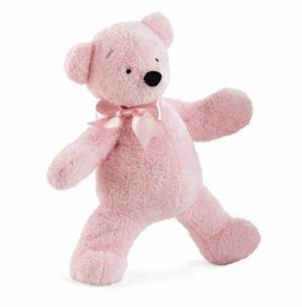 "12"" pink smushy bear by north american bear"