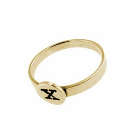 14k gold button ring