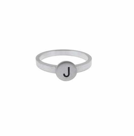 14k white gold button ring
