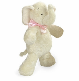 "25"" smushy elephant with pink bow by north american bear"
