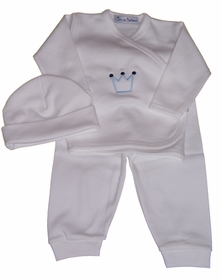 3 piece take me home layette set-crown