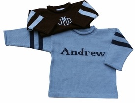 3 striped monogram name sweater