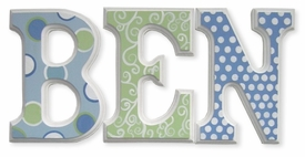 """8"""" hand painted wooden letters block flash back"""