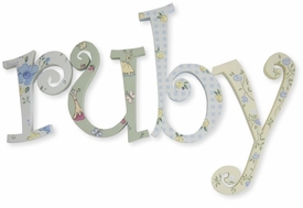 """8"""" hand painted wooden letters-curlz ruby's dresses"""