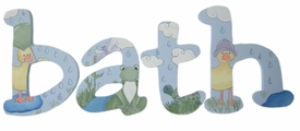 """8"""" hand painted wooden letters-jester pondfriends"""