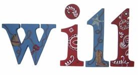 """8"""" hand painted wooden letters-nantucket howdy partner"""