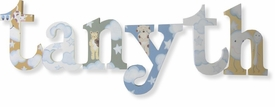 """8"""" hand painted wooden letters-nantucket over the moon"""