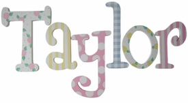 """8"""" hand painted wooden letters taylor's whimsy"""