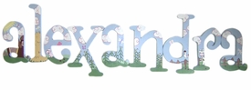 """8"""" hand painted wooden letters whimsical barnyard"""
